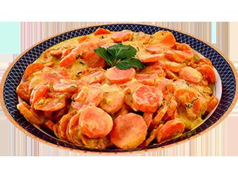 Sárgarépa főzelék kurkumával