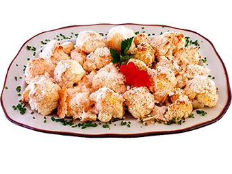 Crispy Cauliflower with Parmesan